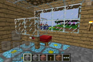 My bedroom in my Minecraft house.